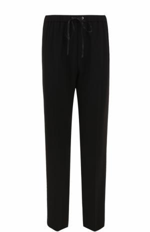 Укороченные брюки прямого кроя с эластичным поясом Alexander Wang. Цвет: черный