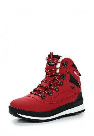 Ботинки трекинговые TORDIS. Цвет: красный