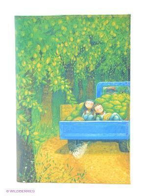 Обложка для автодокументов Дети в грузовике с дынями Mitya Veselkov. Цвет: зеленый, желтый, синий