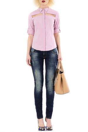 Блузка JUNONA. Цвет: розовый