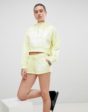 Ivy Park Желтые трикотажные шорты с логотипом. Цвет: желтый