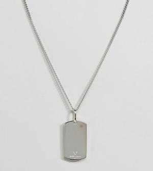 Seven London Серебристое ожерелье с армейским жетоном. Цвет: серебряный