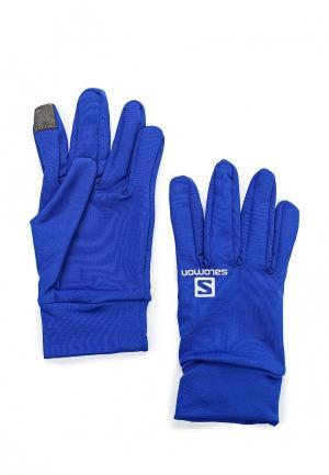 Перчатки Salomon. Цвет: синий