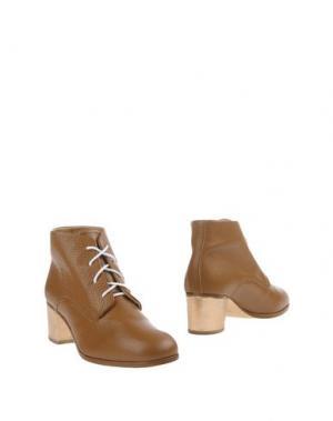 Полусапоги и высокие ботинки L'F SHOES. Цвет: верблюжий
