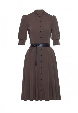 Платье Marichuell. Цвет: коричневый