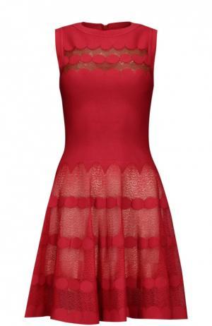 Платье Alaia. Цвет: красный
