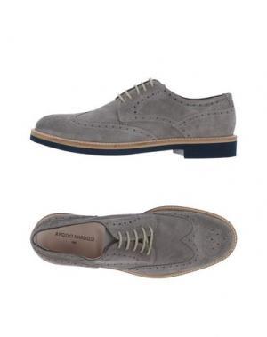 Обувь на шнурках ANGELO NARDELLI. Цвет: серый