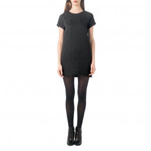 Платье короткое из жаккарда BEST MOUNTAIN. Цвет: черный