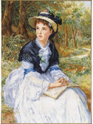Набор для вышивания Счастливые мечты  28х37 см Алиса. Цвет: белый, голубой, зеленый, светло-голубой, серо-голубой, синий, темно-зеленый, темно-коричневый, темно-синий