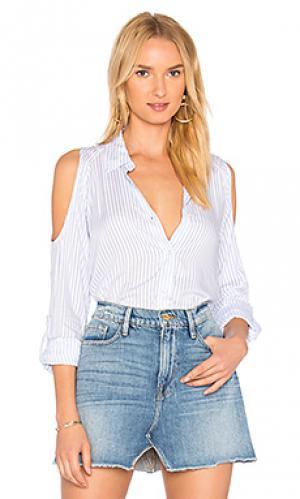 Полосатая рубашка на пуговицах mckenna Generation Love. Цвет: синий