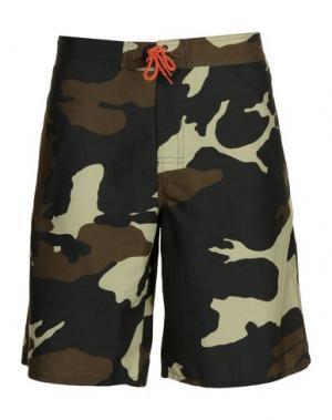 Пляжные брюки и шорты IUTER. Цвет: зеленый