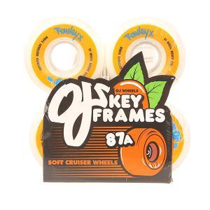 Колеса для скейтборда лонгборда  Rowley Keyframe White/Orange 87A 54 mm Oj. Цвет: белый,оранжевый