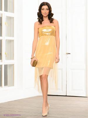 Платье Viaggio. Цвет: золотистый