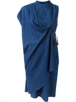 Платье Caia Reality Studio. Цвет: синий