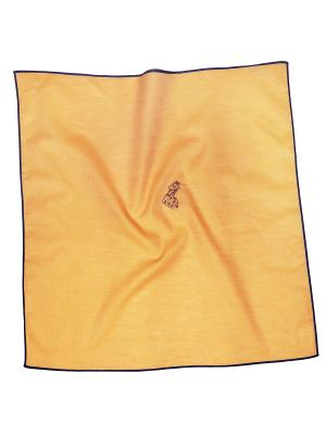 Платок 100% х/б 50*50 Passigatti. Цвет: светло-оранжевый