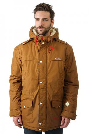 Куртка парка  Fishtail Brown TrueSpin. Цвет: коричневый