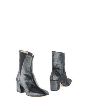 Полусапоги и высокие ботинки L'ARIANNA. Цвет: серебристый