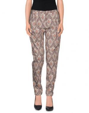 Повседневные брюки E_GO' SONIA DE NISCO. Цвет: темно-коричневый
