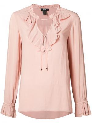 Блузка с воротником рюшами Paige. Цвет: розовый и фиолетовый