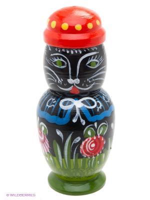 Котик в шляпе Сувенир Сувенирыч. Цвет: черный