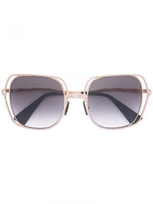 Солнцезащитные очки Kuboraum. Цвет: металлический