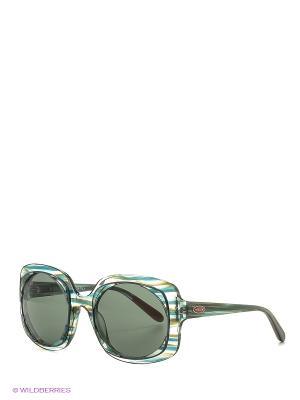 Солнцезащитные очки MI 806S 04 Missoni. Цвет: зеленый