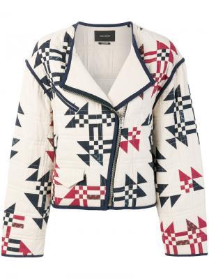 Стеганая байкерская куртка Lazel Isabel Marant. Цвет: белый