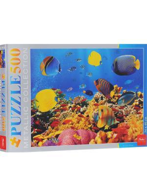 ПАЗЛ 500 элементов  -Подводный мир- Издательство Хатбер-пресс. Цвет: белый