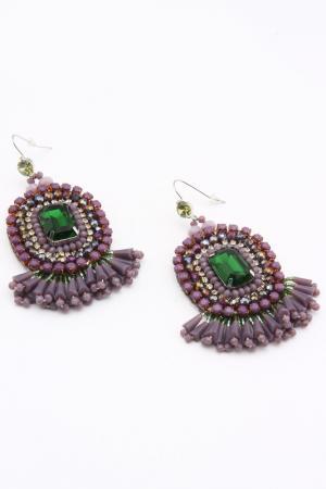 Серьги VANITY HER. Цвет: фиолетовый, зеленый