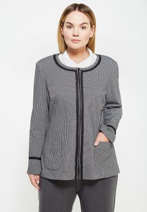 Жакет Авантюра Plus Size Fashion. Цвет: серый