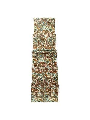 Коробка картонная, набор из 5 шт. 22х22х16 - 30х30х20 см. Персидские огурцы. VELD-CO. Цвет: бирюзовый, оливковый, хаки