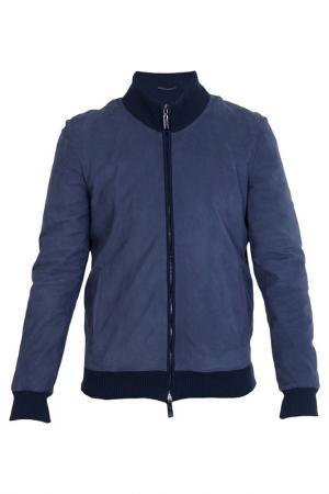Куртка ENZO. Цвет: синий