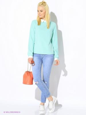 Блузка Colambetta. Цвет: зеленый, белый