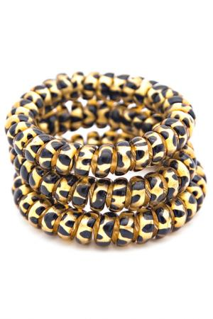 Резинка-браслет для волос 3 шт Beautypedia. Цвет: золотой, черный