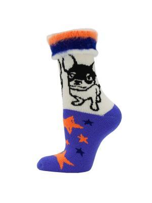 Новогодние носки HOSIERY. Цвет: сиреневый