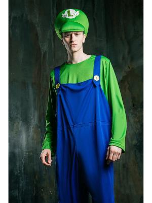 Костюм Супер Марио La Mascarade. Цвет: синий, белый, зеленый