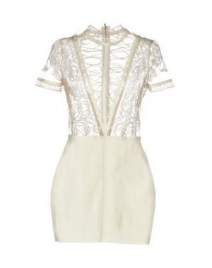 Короткое платье JITROIS. Цвет: белый