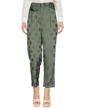Повседневные брюки MEM.JS. Цвет: зеленый-милитари