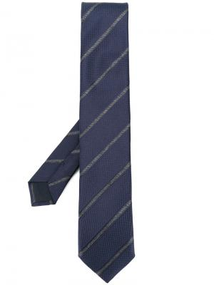 Diagonal stripes tie Corneliani. Цвет: синий