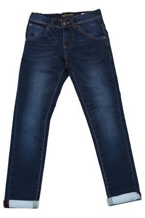 Брюки Wampum. Цвет: синий, джинсовый