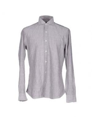 Pубашка DANDYLIFE by BARBA. Цвет: голубиный серый