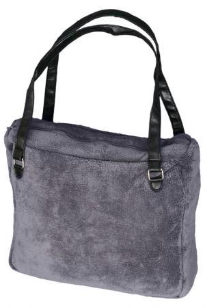 Декоративный плед, сумка MIKRONESSE. Цвет: серый