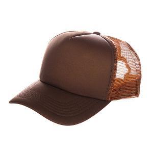 Бейсболка с сеткой  Combo Trucker Brown/Beige TrueSpin. Цвет: коричневый