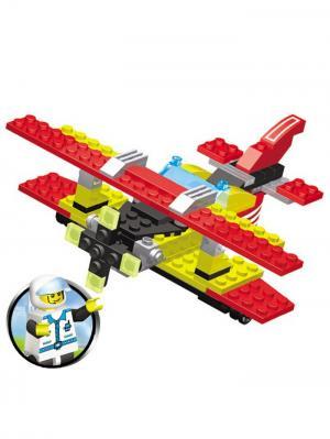 Конструктор SuperBlock Авиация Самолет M Склад Уникальных Товаров. Цвет: красный