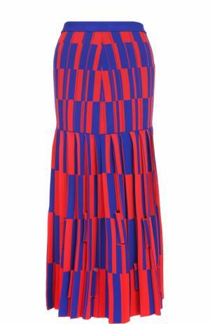 Вязаная юбка-миди в контрастную полоску Proenza Schouler. Цвет: разноцветный