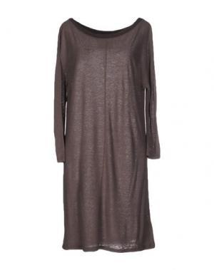 Короткое платье ES'GIVIEN. Цвет: светло-коричневый