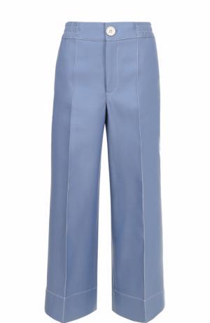 Укороченные широкие брюки со стрелками Bally. Цвет: голубой