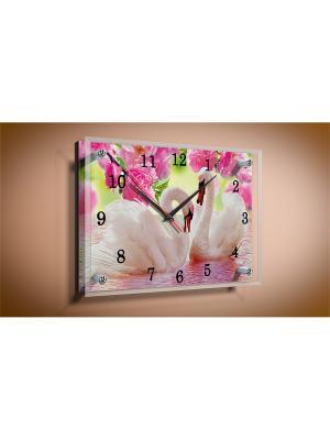 Настенные часы Лебеди 20х25 В994 PROFFI. Цвет: белый, черный, зеленый, красный, розовый