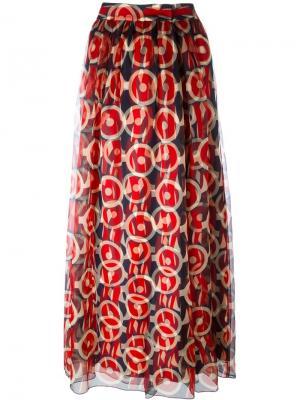 Юбка макси с принтом Marc Jacobs. Цвет: синий