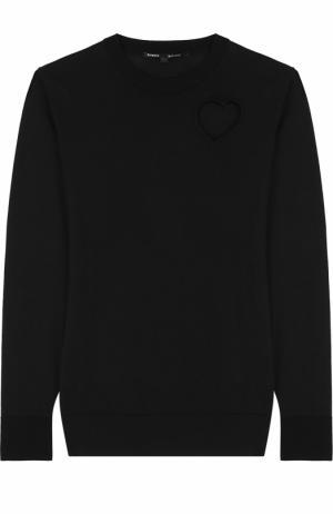 Пуловер прямого кроя с вырезом в форме сердца Proenza Schouler. Цвет: черный